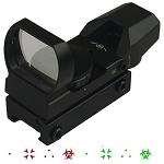 Red/Green Ver2 Black 4 Reticle Adj Bio Hazard, 3 Dots, Dot